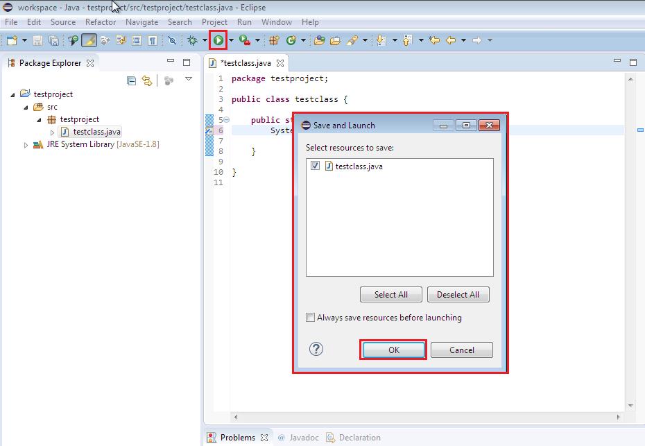 Running the simplest program in Java Hello World!